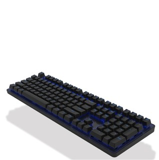 iKBC R300 108键 有线机械键盘 黑色 Cherry茶轴 蓝光