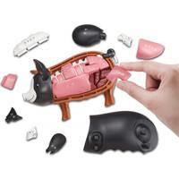 万代(BANDAI) Megahouse 3D立体动物拼图 儿童模型玩具(无售后!!!) 黑猪