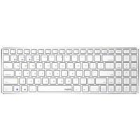 雷柏(Rapoo) E9300 键盘 无线蓝牙键盘 办公键盘 超薄便携键盘 98键 电脑键盘 笔记本键盘 ipad键盘 白色