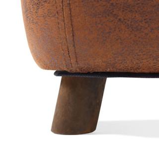 林氏木业 LS084H5-A 儿童实木脚学习凳 棕牛款 棕色