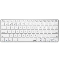雷柏(Rapoo) E9000 键盘 无线蓝牙键盘 办公键盘 超薄便携键盘 78键 电脑键盘 笔记本键盘 白色 自营