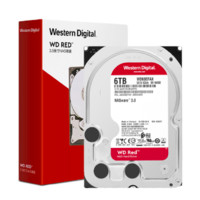 Western Digital 西部数据 红盘 台式机NAS硬盘 6TB 5400rpm 256MB WD60EFAX