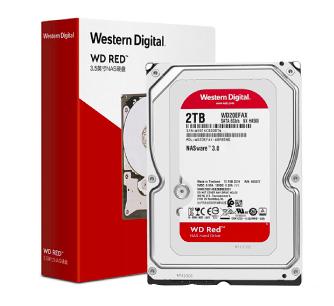 西部数据(WD)红盘 2TB NAS网络存储服务器磁盘阵列机械硬盘2t SATA WD20EFAX