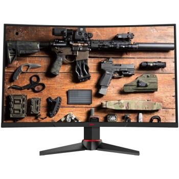 HKC 惠科 G271F 27英寸 VA曲面电竞显示器(144Hz、FreeSync、1800R、1ms)