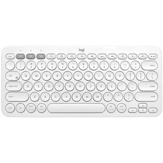 罗技(Logitech)K380 键盘 无线蓝牙键盘 办公键盘 女性 便携 超薄键盘 笔记本键盘 芍药白 限量版