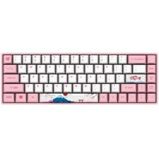 Akko 艾酷 3068 世界巡回无线机械键盘 Cherry樱桃 粉色68键 茶轴