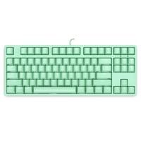 ikbc F200 机械键盘 有线键盘 游戏键盘 87键 单背光 cherry轴 吃鸡神器 背光键盘 笔记本键盘 绿色 红轴