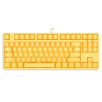 ikbc F200 机械键盘 有线键盘 游戏键盘 87键 单背光 cherry轴 吃鸡神器 背光键盘 笔记本键盘 黄色 红轴