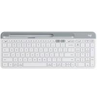 罗技(Logitech)K580 键盘 无线蓝牙键盘 办公键盘 便携超薄键盘 笔记本键盘 平板键盘 芍药白