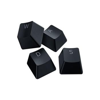 雷蛇 Razer 双色注塑PBT键帽升级套件 机械键盘 透光材料 游戏键盘配件 104键 个性化DIY 含拔键器 经典黑