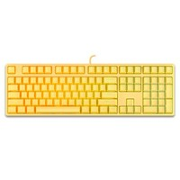 ikbc F410 108键 焕彩机械键盘 有线键盘 游戏键盘 RGB背光 cherry轴 背光键盘 黄色 红轴