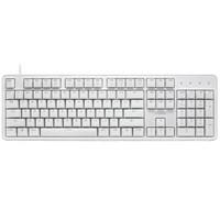 雷柏(Rapoo) MT710 机械键盘 有线键盘 办公键盘 104键单光键盘 全键无冲 电脑键盘 笔记本键盘 白色 红轴