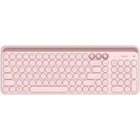 米物(MIIIW)双模蓝牙键盘 无线键盘 一键切换 便携轻薄 笔记本 电脑办公键盘 粉色