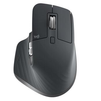 罗技(Logitech)MX Master 3 鼠标 无线蓝牙鼠标 办公鼠标 右手鼠标 双模优联 石墨黑 带无线2.4G接收器