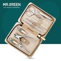 MR.GREEN 不锈钢指甲刀套装 8件套 浅灰色 Mr-8888 *2件