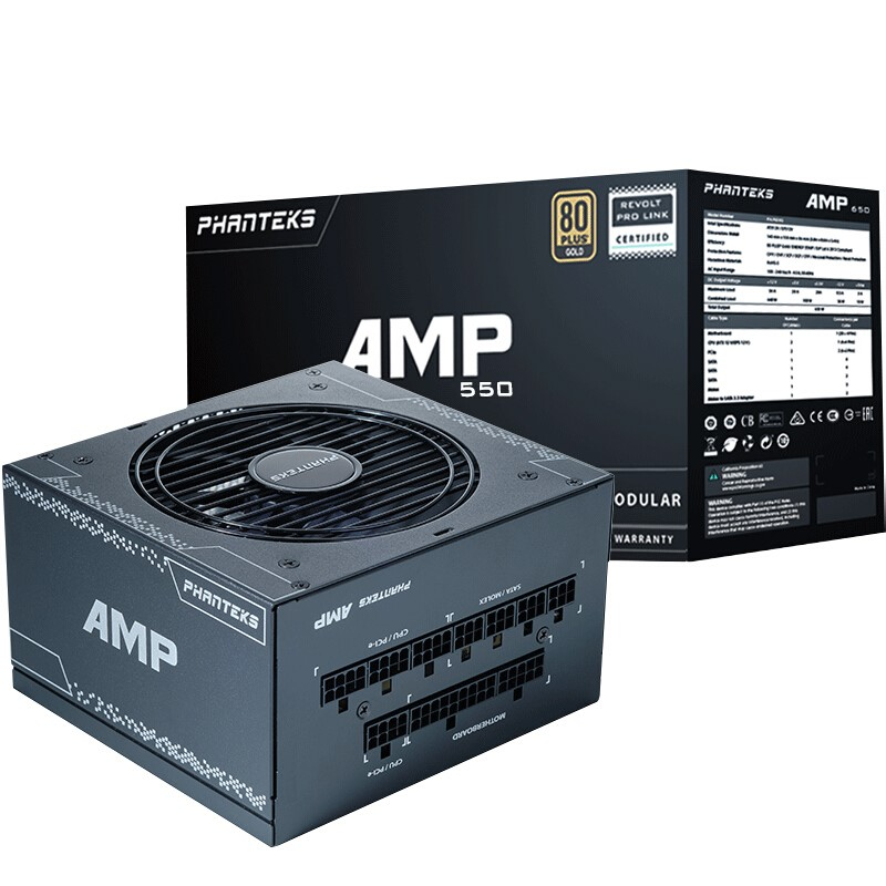 PHANTEKS 追风者 PH-P550G 电脑电源 金牌(90%)550W 全模组化