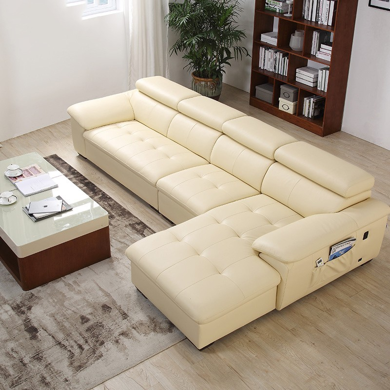 ZUOYOU 左右傢俬 DZY5001 多功能真皮沙发 转二件反向
