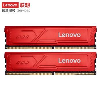联想(Lenovo)DDR4 3200 16GB(8GBX2) 台式机内存条 红靡战甲 Master大师系列