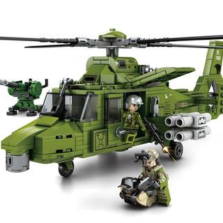 SEMBO BLOCK 森宝积木 军事系列积木 铁血重装-多功能直升机