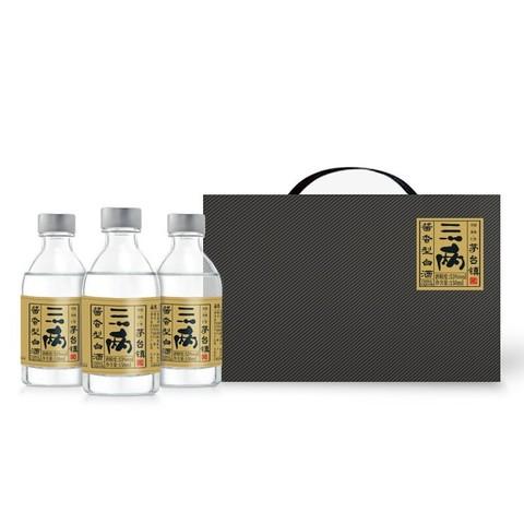 三两 53度小瓶白酒金标酱香型白酒 150ml*3瓶