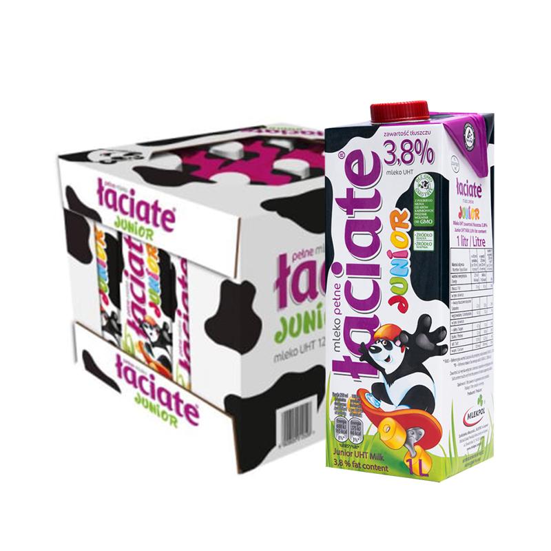 兰雀 3.8%全脂纯牛奶 1L*12盒