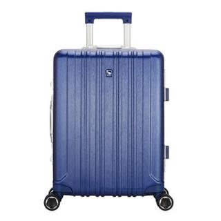 爱华仕(OIWAS)新品行李箱女5英寸大容量商务旅行箱6559 深蓝色拉丝 25英寸