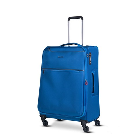 Echolac 爱可乐 纺布拉链万向轮旅行箱CT567 蓝色24寸