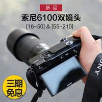 sony/索尼A6100 (16-50+55-210)双镜头蚂蚁摄影索尼微单相机a6100