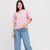 UNIQLO 优衣库 422703 女士圆领T恤 水粉色  XS