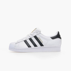 Adidas(阿迪达斯) 三叶草 金标贝壳头 白色 大童经典运动休闲 SUPERSTAR J  C77154/FU7712 36