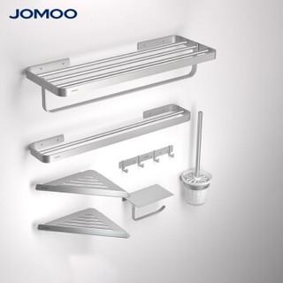 JOMOO 九牧 939449 浴室置物架 太空铝7件套 亮银色