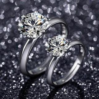 馨瑶 纯银莫桑钻石戒指 1克拉
