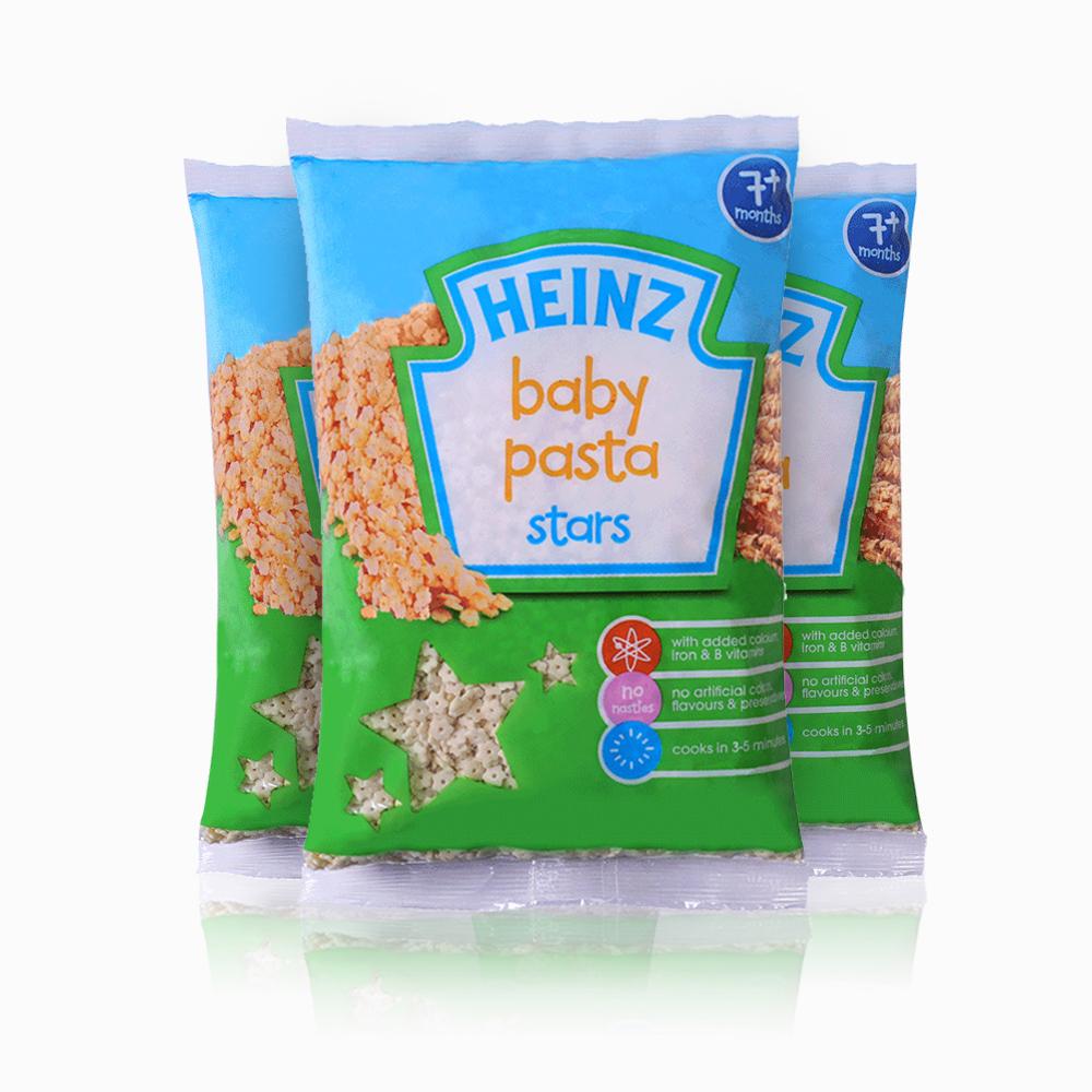 Heinz亨氏 星星造型意面宝宝辅食250g袋7个月+ 3袋装