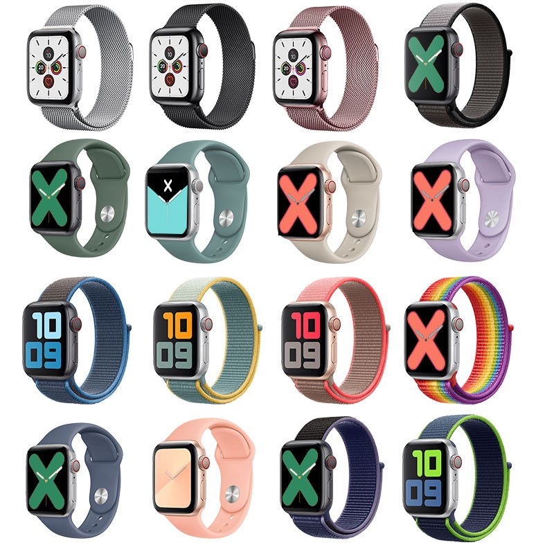 华昂 苹果apple watch手表表带 多款可选38-44mm