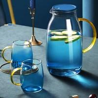 花间道 凉水壶玻璃杯套装家用耐高温花茶壶 1800ml