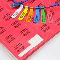 乐标(lopal) A4不干胶网线标签 机房网络布线贴纸 线缆标签纸P型 送模板 厚底款 红色50张/包