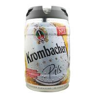 德国原装进口 科慕堡krombacher啤酒 皮尔森大麦黄啤精酿啤酒 铁金刚桶啤酒 5L大桶装 皮尔森5L桶装