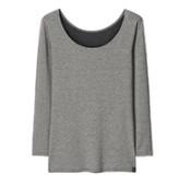 UNIQLO 优衣库 HEATTECH EXTRA WARM 女款八分袖打底衫408241 深灰色 XS