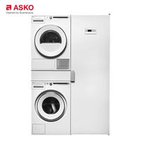 雅士高(ASKO)欧洲进口家用洗烘8kg抗敏洗8kg热泵烘W4086C.W+T408HD.W+HDB1153W+DC7784V.W(白色)