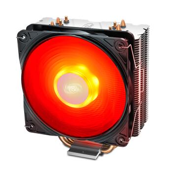 九州风神(DEEPCOOL)玄冰400 CPU散热器(多平台/支持AM4/4热管/智能温控/发红光/12CM风扇/附带硅脂)