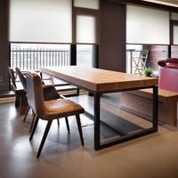 实木电脑桌办公桌子loft铁艺美式松木书桌条桌家用简易工作台简约学习桌书法桌会议桌 厂家直销 单桌长180*宽80*高75厚8CM