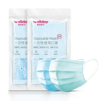 WELLDAY 维德 一次性医用口罩 灭菌级 20只装