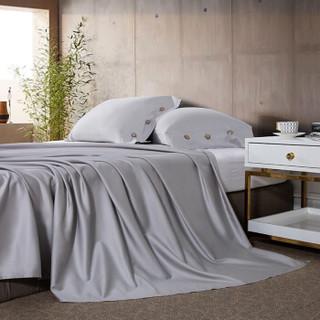 然牌 全棉床单 纯棉60支高支高密床上用品床单单件 银灰色 230*250cm