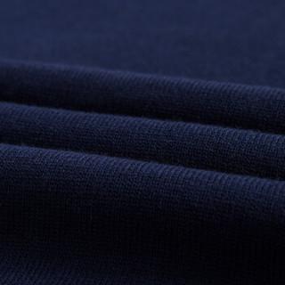 才子(TRIES)毛衫男 半高领色织几何保暖毛衫修身百搭男士毛衣 9287E2127 深蓝色 52(180/96A)