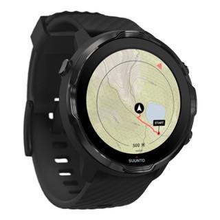 颂拓(SUUNTO)SUUNTO 7 智能运动手表 音乐支付户外跑步心率GPS双系统腕表 经典全黑SS050393000