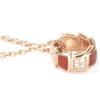 BVLGARI 宝格丽 SERPENTI VIPER系列 355088 女士玫瑰金色项链