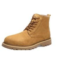 CABBEEN 卡宾 男士系带短筒马丁靴CB394204551 棕色 44