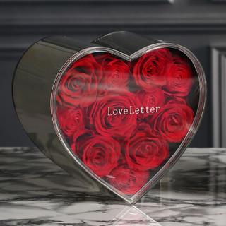 Love Letter 心中全是你厄瓜多尔永生花礼盒玫瑰花盒保鲜花 七夕情人节礼物 送女友生日礼物