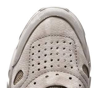 GOOD YEAR 固特异 男士皮质圆头系带低帮休闲鞋G7496YR 卡其色38