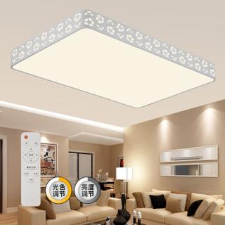 京东PLUS会员 : HD 雪花 LED客厅吸顶灯 116W 长方形